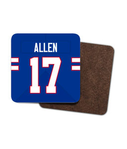 Buffalo Custom Home Jersey - Single Drinks Coaster - Pick 6 Apparel