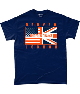 Denver Pro Flag UK United In Orange T-Shirt - 2 Colours - Pick 6 Apparel