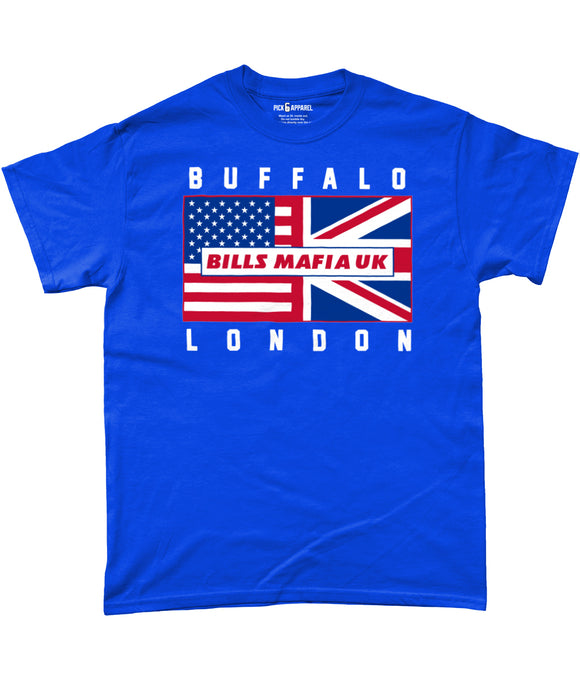 Buffalo Pro Flag Bills Mafia UK Pick 6 Apparel T-Shirt - 3 Colours - Pick 6 Apparel