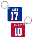 Buffalo Player Jersey Custom Personalised Link Up Keyring - Pick 6 Apparel
