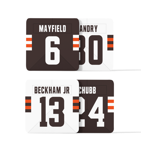 Cleveland Custom Jersey - Drinks Coaster Bundle BUY 2 GET 2 FREE - Pick 6 Apparel