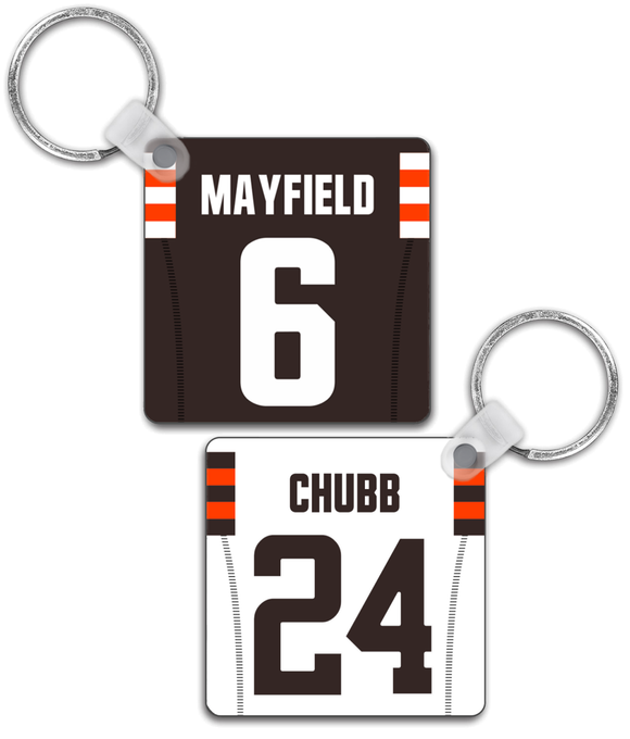 Cleveland Player Jersey Custom Personalised Link Up Keyring - Pick 6 Apparel
