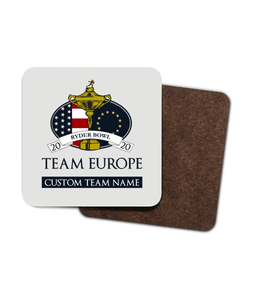 Dynasty Ryder Bowl - Customised Drinks Coaster - Team Europe - Pick 6 Apparel
