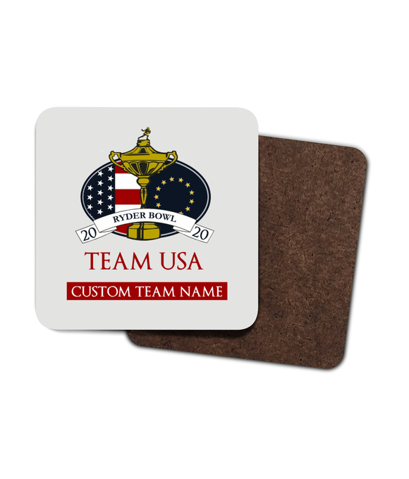 Dynasty Ryder Bowl - Customised Drinks Coaster - Team USA - Pick 6 Apparel