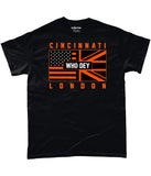 Cincinnati Pro Flag UK Who Dey Pick 6 Apparel T-Shirt - 3 Colours - Pick 6 Apparel