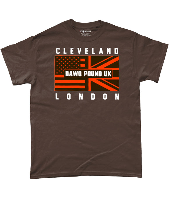Cleveland Pro Flag UK Dawg Pound Pick 6 Apparel T-Shirt - 2 Colours - Pick 6 Apparel