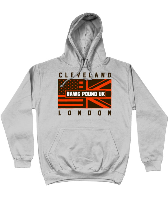 Cleveland Pro Flag UK Dawg Pound Pick 6 Apparel Hoodie - Grey - Pick 6 Apparel