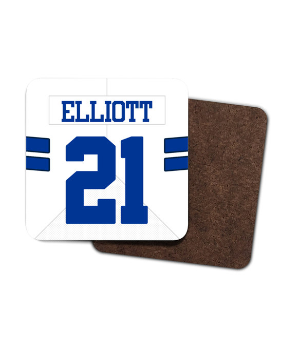 Dallas Custom Road Jersey - Single Drinks Coaster - Pick 6 Apparel