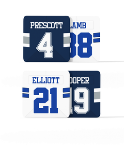 Dallas Custom Jersey - Drinks Coaster Bundle BUY 2 GET 2 FREE - Pick 6 Apparel