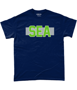 Seattle Pro Colour Code SEA Pick 6 Apparel T-Shirt - 2 Colours - Pick 6 Apparel
