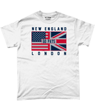 New England Pro Flag UK Go Pats Pick 6 Apparel T-Shirt - 2 Colours - Pick 6 Apparel