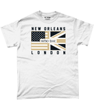 New Orleans Pro Flag UK Who Dat Pick 6 Apparel T-Shirt - 2 Colours - Pick 6 Apparel