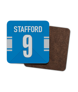 Detroit Custom Home Jersey - Single Drinks Coaster - Pick 6 Apparel