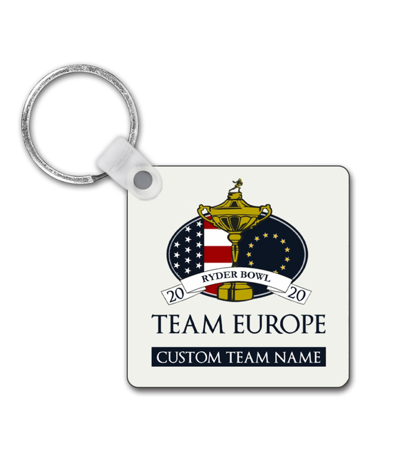 Dynasty Ryder Bowl - Customised Keyring - Team Europe - Pick 6 Apparel