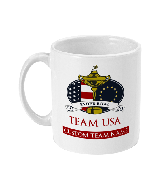 Dynasty Ryder Bowl - Customised 11oz Mug - Team USA - Pick 6 Apparel
