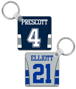 Dallas Player Jersey Custom Personalised Link Up Keyring - Pick 6 Apparel