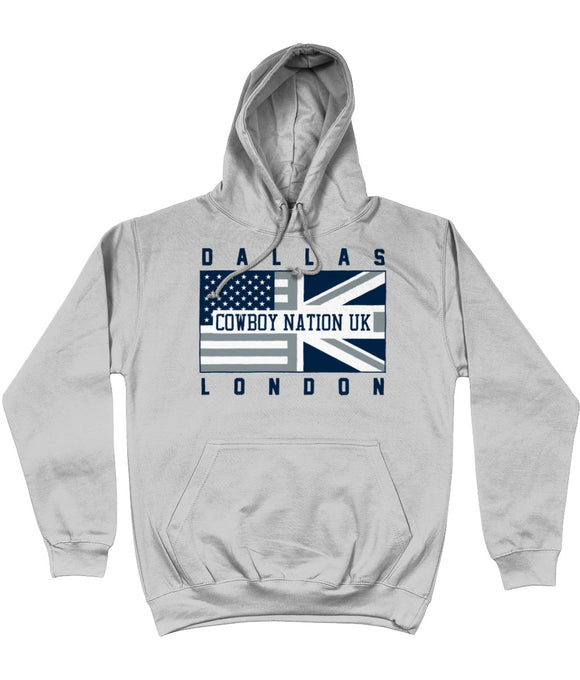 Dallas Pro Flag Cowboy Nation UK Pick 6 Apparel Hoodie - 2 Colours - Pick 6 Apparel