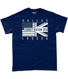 Dallas Pro Flag Cowboy Nation UK Pick 6 Apparel T-Shirt - 3 Colours - Pick 6 Apparel