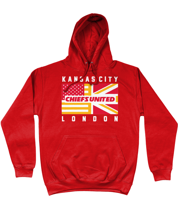 Kansas City Pro Flag UK Chiefs United Pick 6 Apparel Hoodie - 2 Colours - Pick 6 Apparel