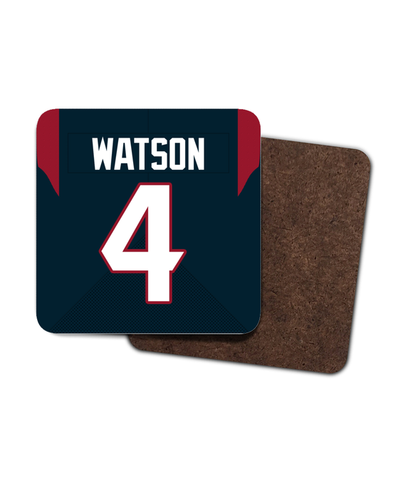 Houston Custom Home Jersey - Single Drinks Coaster - Pick 6 Apparel