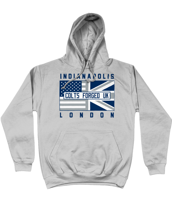 Indianapolis Pro Flag UK Colts Forged Pick 6 Apparel Hoodie - Grey - Pick 6 Apparel
