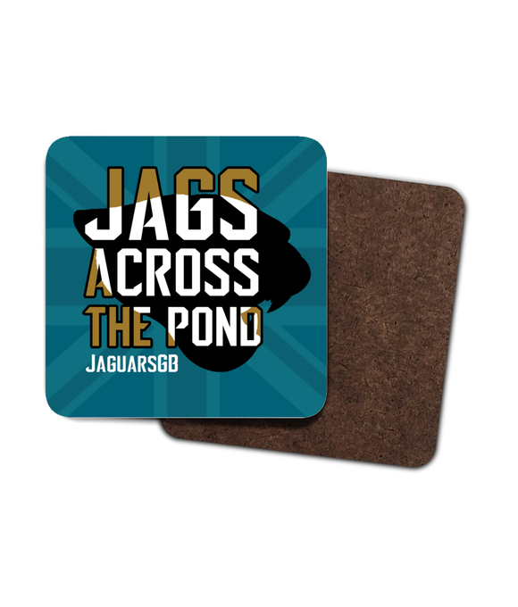 Jags Across The Pond Merchandise - Single Drinks Coaster - Pick 6 Apparel