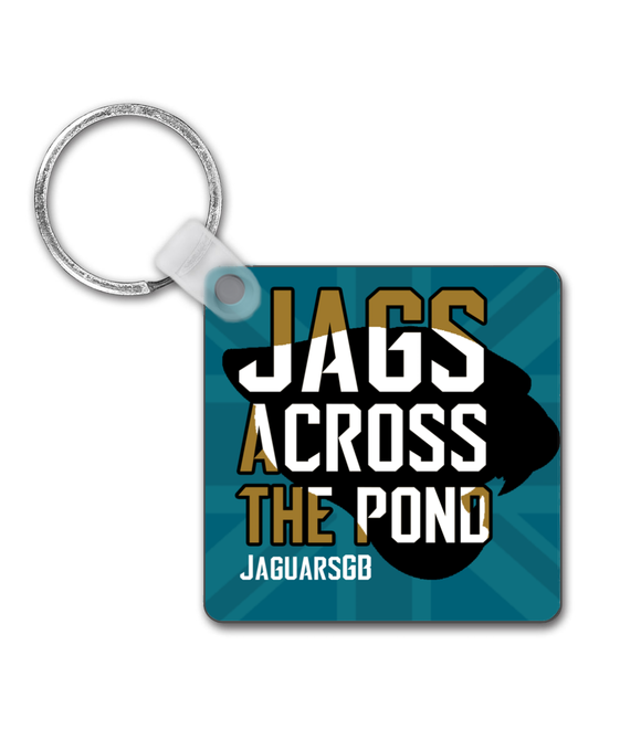 Jags Across The Pond Merchandise - Double-Sided Keyring - Pick 6 Apparel