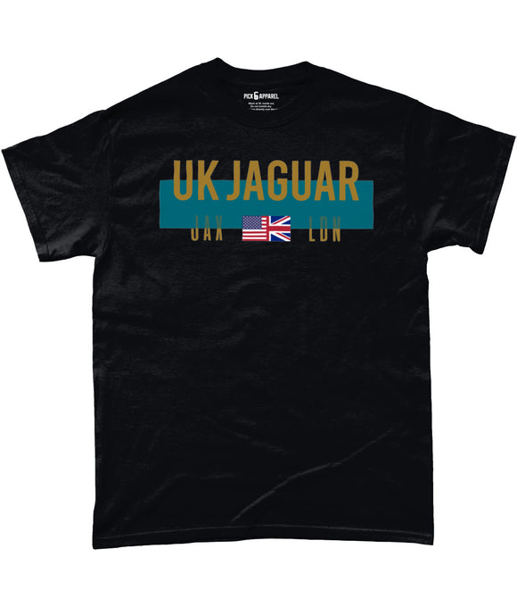 Jacksonville UK London Fan Pick 6 Apparel T-Shirt - Black - Pick 6 Apparel