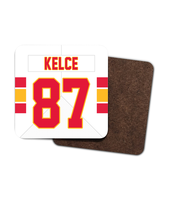 Kansas City Custom Road Jersey - Single Drinks Coaster - Pick 6 Apparel