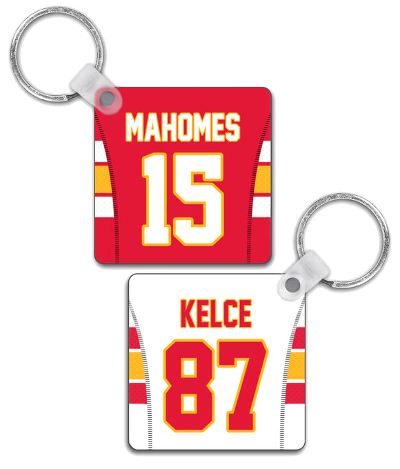 Kansas City Player Jersey Custom Personalised Link Up Keyring - Pick 6 Apparel