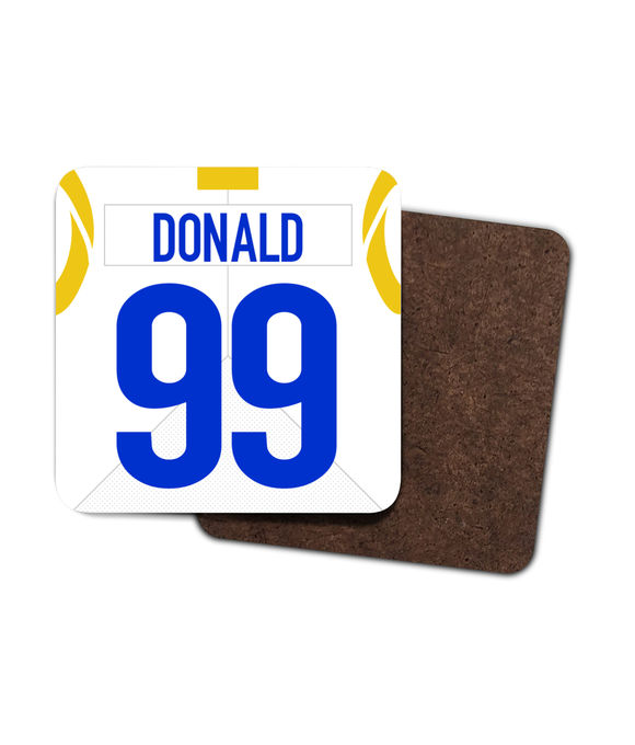 Los Angeles LAR Road Player Jersey - Single Drinks Coaster - Pick 6 Apparel