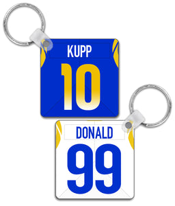 Los Angeles LAR Player Jersey Custom Personalised Link Up Keyring - Pick 6 Apparel