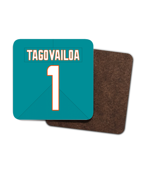 Miami Custom Home Jersey - Single Drinks Coaster - Pick 6 Apparel