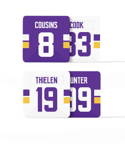 Minnesota Custom Jersey - Drinks Coaster Bundle BUY 2 GET 2 FREE - Pick 6 Apparel