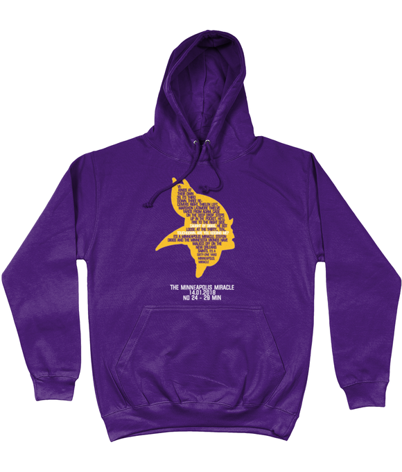 Copy of Minnesota 'Minneapolis Miracle' Pick 6 Hoodie - Purple - Pick 6 Apparel