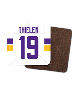Minnesota Custom Road Jersey - Single Drinks Coaster - Pick 6 Apparel