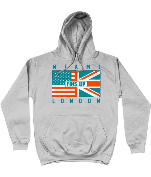 Miami Pro Flag Fins Up UK Pick 6 Apparel Hoodie - 2 Colours - Pick 6 Apparel