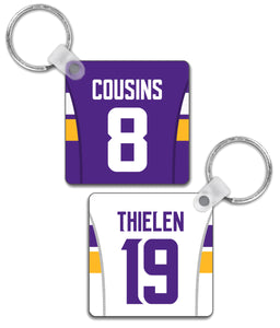 Minnesota Player Jersey Custom Personalised Link Up Keyring - Pick 6 Apparel