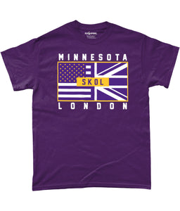 Minesota Pro Flag UK 'S K O L' Pick 6 Apparel T-Shirt - 2 Colours - Pick 6 Apparel