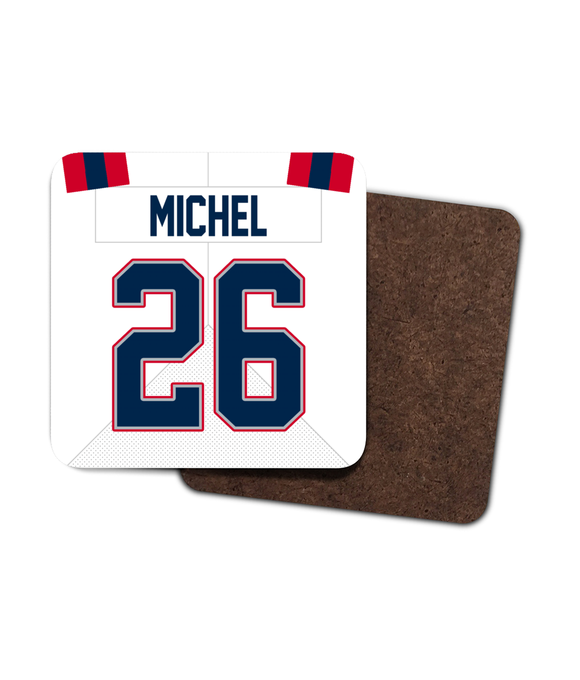 New England Custom Road Jersey - Single Drinks Coaster - Pick 6 Apparel