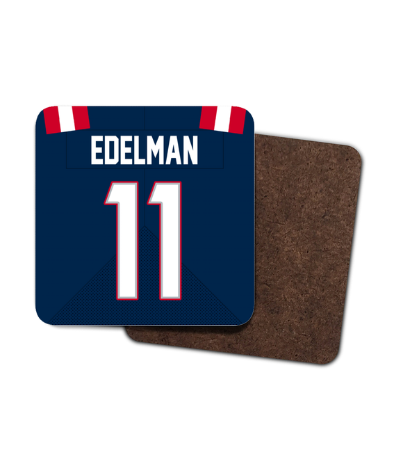 New England Custom Home Jersey - Single Drinks Coaster - Pick 6 Apparel