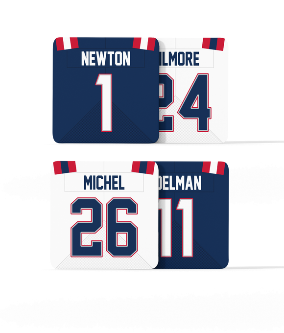 New England Custom Jersey - Drinks Coaster Bundle BUY 2 GET 2 FREE - Pick 6 Apparel