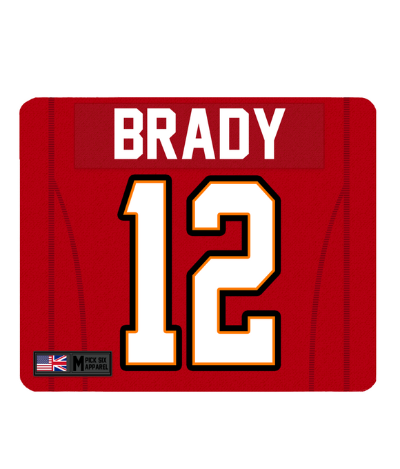 Tampa Bay Custom Player Personalised Jersey Mouse Mat - Pick 6 Apparel