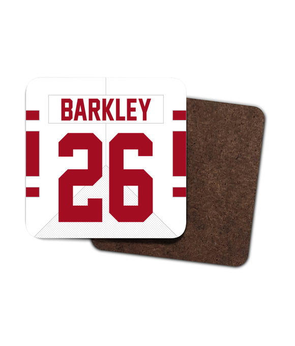New York NYG Custom Road Jersey - Single Drinks Coaster - Pick 6 Apparel