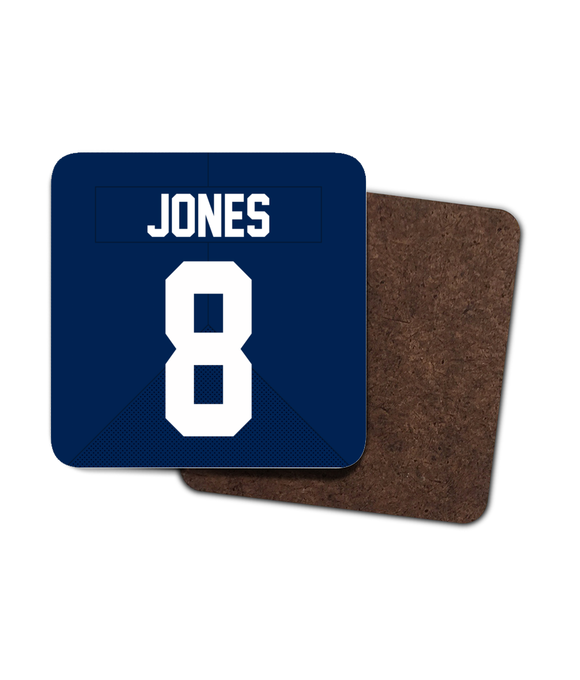 New York NYG Custom Home Jersey - Single Drinks Coaster - Pick 6 Apparel