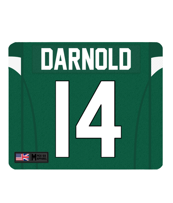 NY Jets Custom Player Personalised Jersey Mouse Mat - Pick 6 Apparel