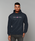 Pick 6 Apparel Worded Chest Logo Cotton Hoodie - Navy Blue - Pick 6 Apparel