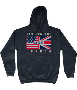 New England Pro Flag UK Go Pats Pick 6 Apparel Hoodie - 2 Colours - Pick 6 Apparel