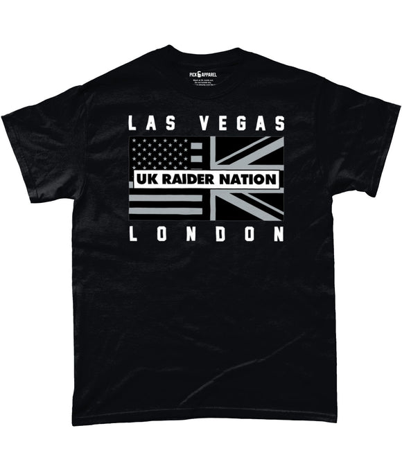 Las Vegas Pro Flag UK Raider Nation Pick 6 Apparel T-Shirt - 2 Colours - Pick 6 Apparel