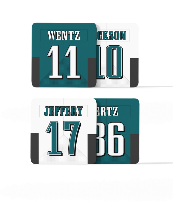 Philadelphia Custom Jersey - Drinks Coaster Bundle BUY 2 GET 2 FREE - Pick 6 Apparel